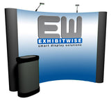 10' Curved Popup Rental with front mural panels