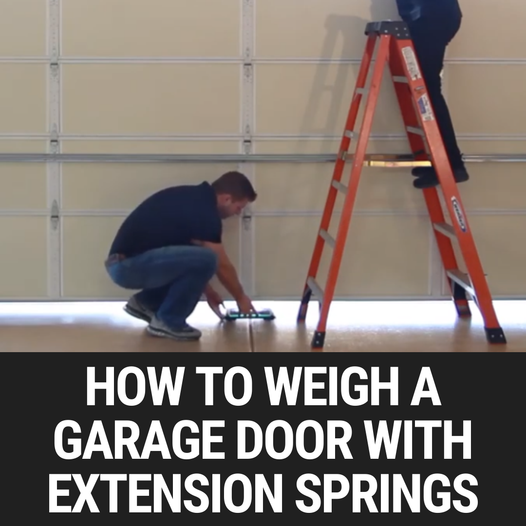 How To Weigh A Garage Door With Extension Springs
