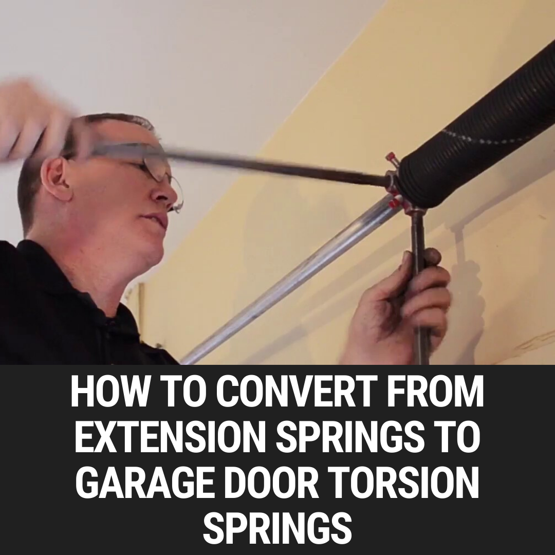How to Convert from Extension Springs to Garage Door Torsion Springs