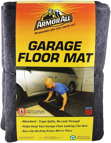 "Armor All AAGFMC20 Charcoal 20' x 7'4"" Garage Floor Mat"
