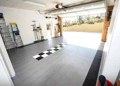 GarageTrac Diamond Durable Interlocking Modular Garage Flooring Tiles
