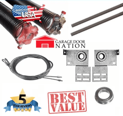 garage door torsion springs replacement kit