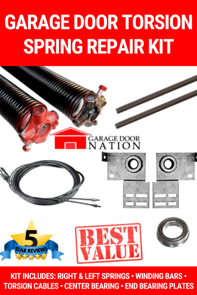 Garage Door Torsion Springs Repair Kit