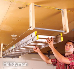 Installing Ceiling Brackets For Ladder Storage Garage
