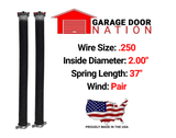 "Pair .250 x 2.00"" x 37"" garage door torsion springs"