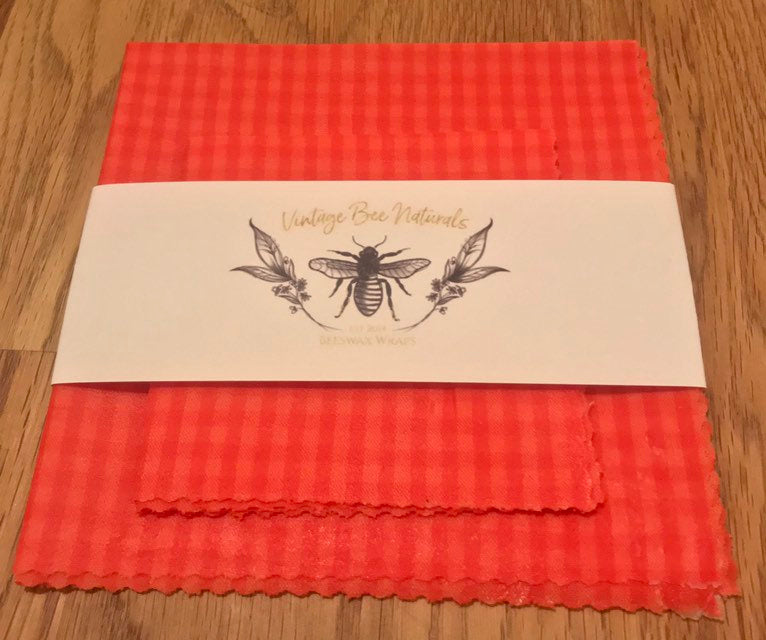 Re usable Beeswax Food Wrap Set of 2 | Organic Cotton | Ecofriendly - Beeswax Wraps