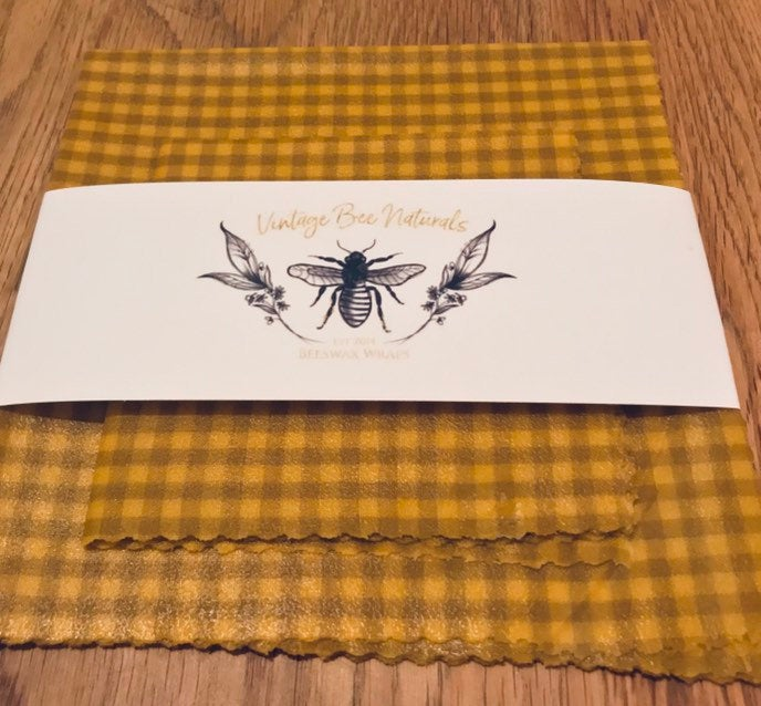 Beeswax Food Wrap Set of 2 | Re-usable | Organic Cotton | Ecofriendly - Beeswax Wraps
