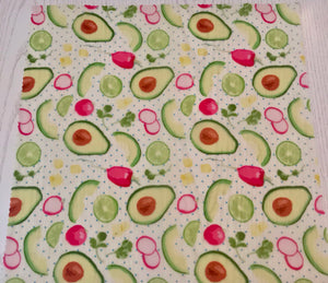 Avocados Beeswax Food Wrap Set of 2 Large Re-usable | Organic Food Safe Cotton | zero  waste - Beeswax Wraps