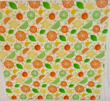 Load image into Gallery viewer, Citrus Fruits Beeswax Food Wrap Set of 3 Medium & Large Re-usable | Organic Cotton | zero waste | UK - Beeswax Wraps