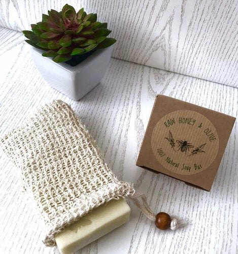Zero Waste Sisal Soap Bag | Soap Saver | Exfoliatingl - Beeswax Wraps