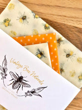 Load image into Gallery viewer, Eco friendly Beeswax Food Wrap Set of 3 | Re-usable | Zero Waste | UK - Beeswax Wraps