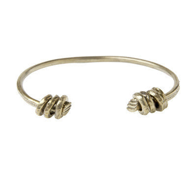 Alkemie Lucky Seven Fists Bangle in Gold Patina at 42 Saint