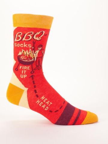 Blue Q BBQ Men's Socks at 42 Saint