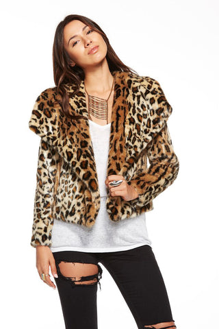 Chaser Roxie Cheetah Jacket at 42 Saint