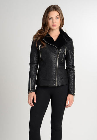 Love Token Moto Jacket in Black at 42 Saint