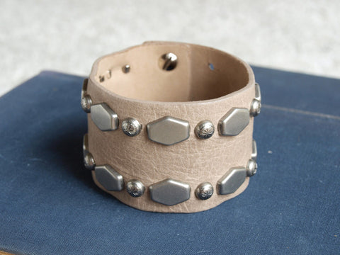 Streets Ahead Hexagon Metal Stud Bracelet at 42 Saint