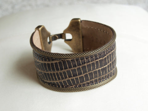 Streets Ahead Snake Embossed Bracelet at 42 Saint