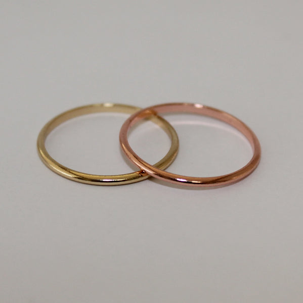 Simple Stackable Knuckle Ring