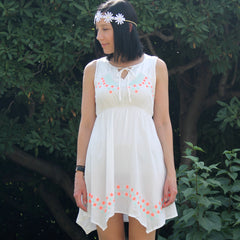 Cover Up Dress with Embroidery