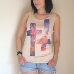 Double Galaxy Cross Print Tank