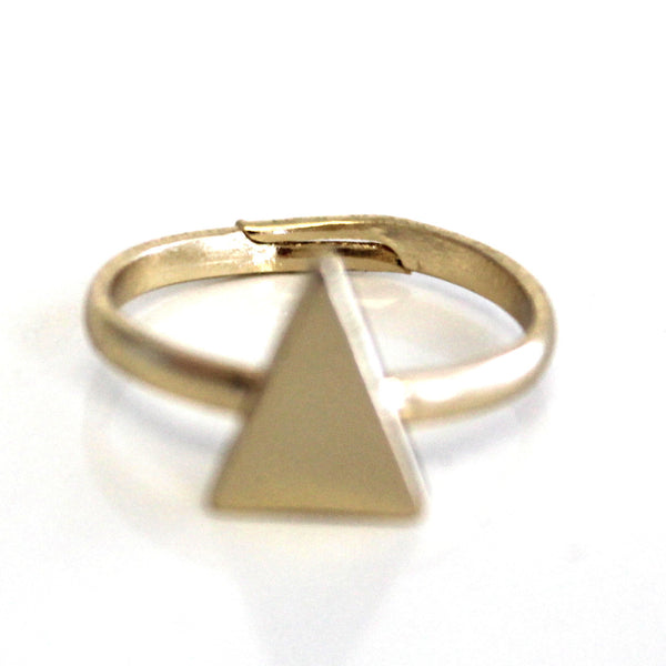 Solid Triangle Knuckle Ring