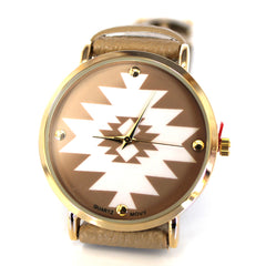 Beige Aztec Watch