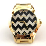 Black Chevron/Gold