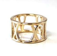 Oversized Roman Numeral Ring