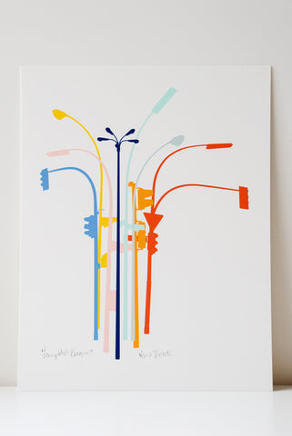 Lamppost Bouquet Art Print