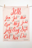 2018 Calendar Tea Towel