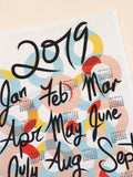 2019 Calendar Tea Towel