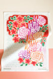 Rose Garden Tea Towel