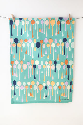 Teaspoons Tea Towel
