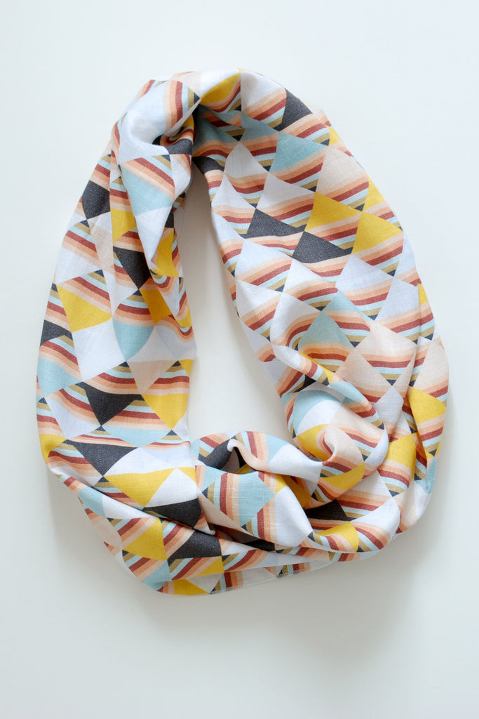 Triangle Sunset Infinity Scarf