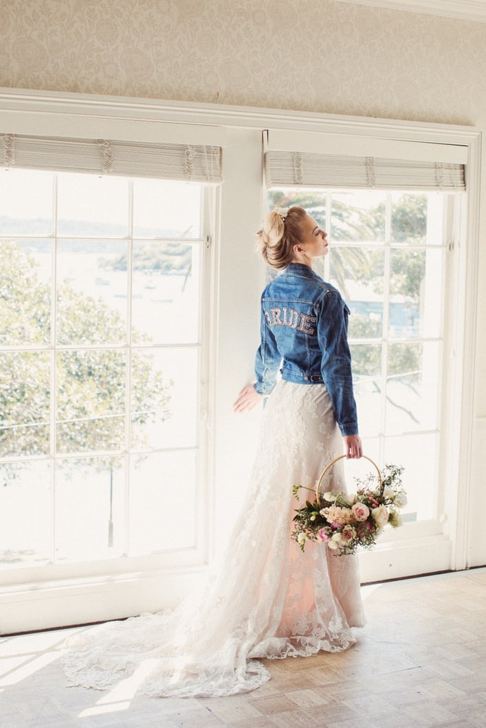 Blue Vintage Wedding Jacket - Available for Hire