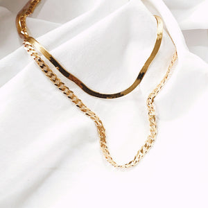 The  Lavish Curb Chain Necklace - Gold - 18""