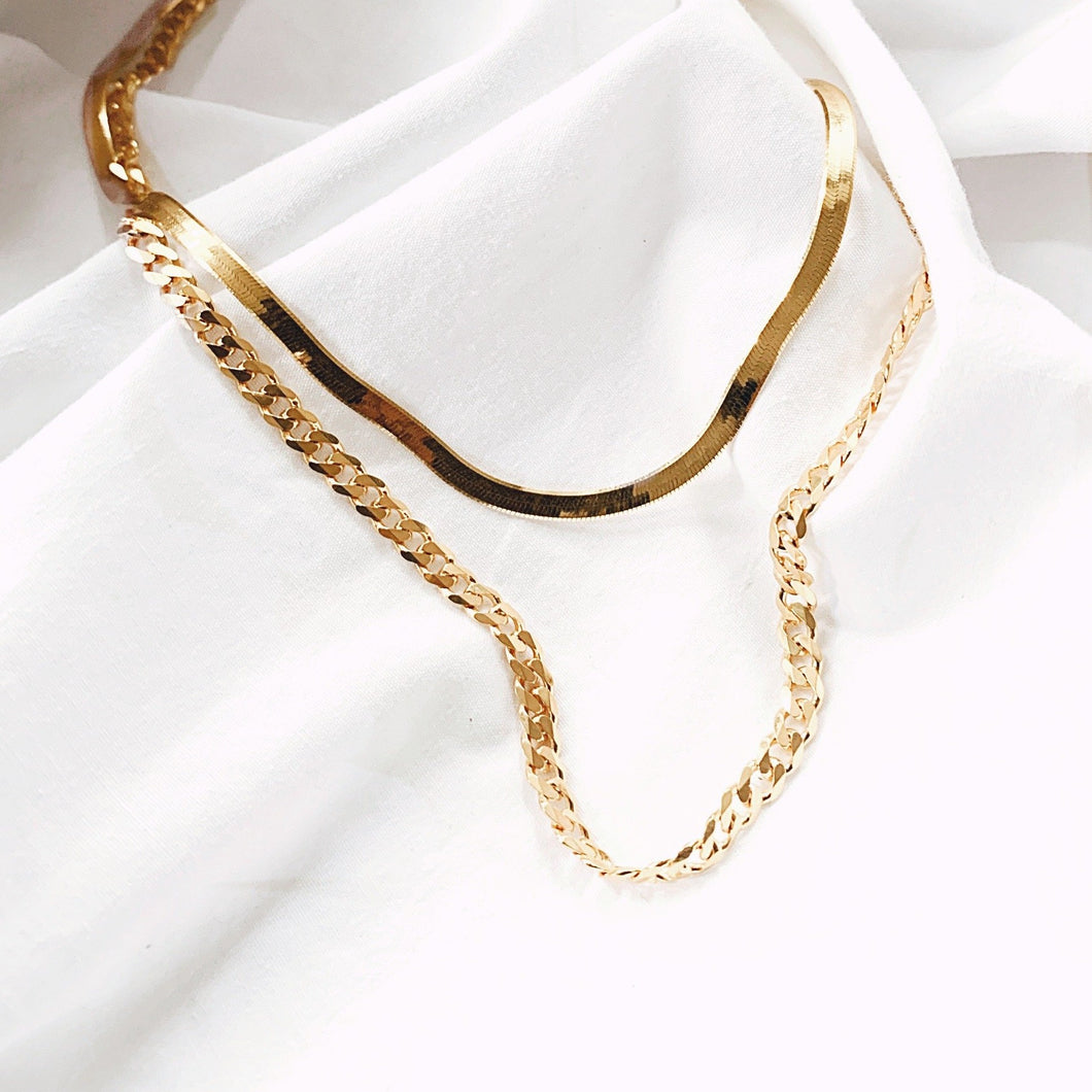 The  Lavish Curb Chain Necklace - Gold - 18
