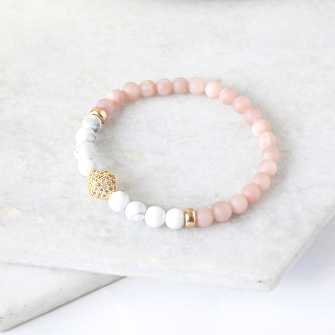 The Glow Up Bracelet - Pink Moonstone