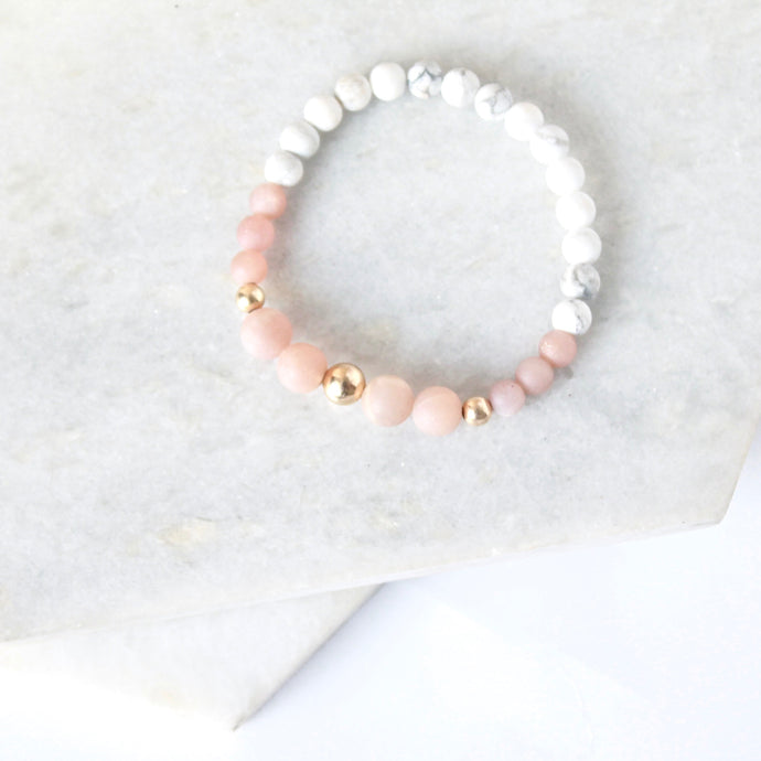 All for Mankind  - Pink Moonstone & Gold Fill
