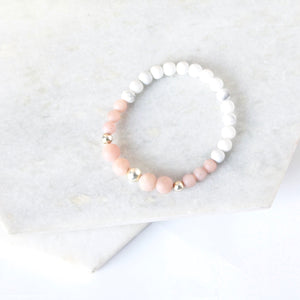 All for Mankind  - Pink Moonstone & Sterling Silver