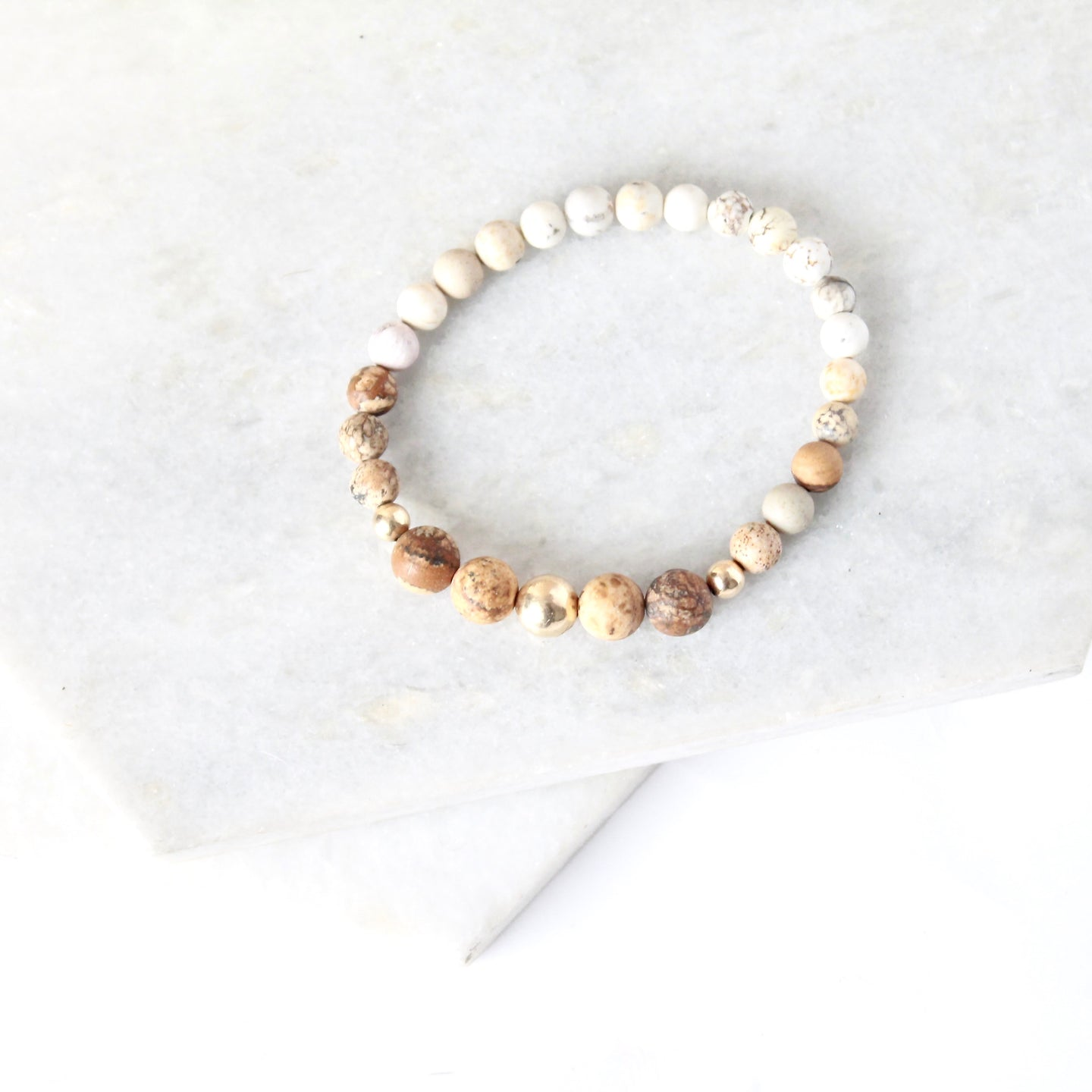 All for Mankind  - Sand Jasper & Gold Fill