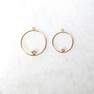 Spark Hoop Jacket Earrings - Small