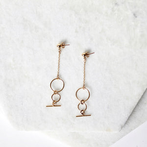 Double Hoop Toggle Earrings