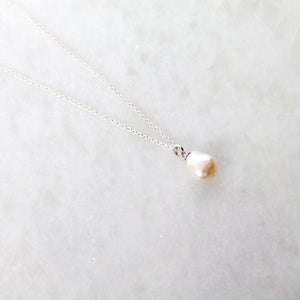 Maya Pearl Necklace- Sterling Silver