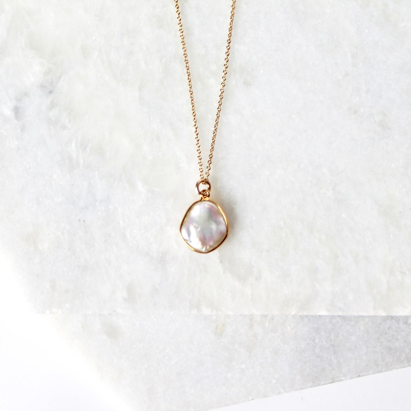 Azulik Cobbled Pearl Necklace
