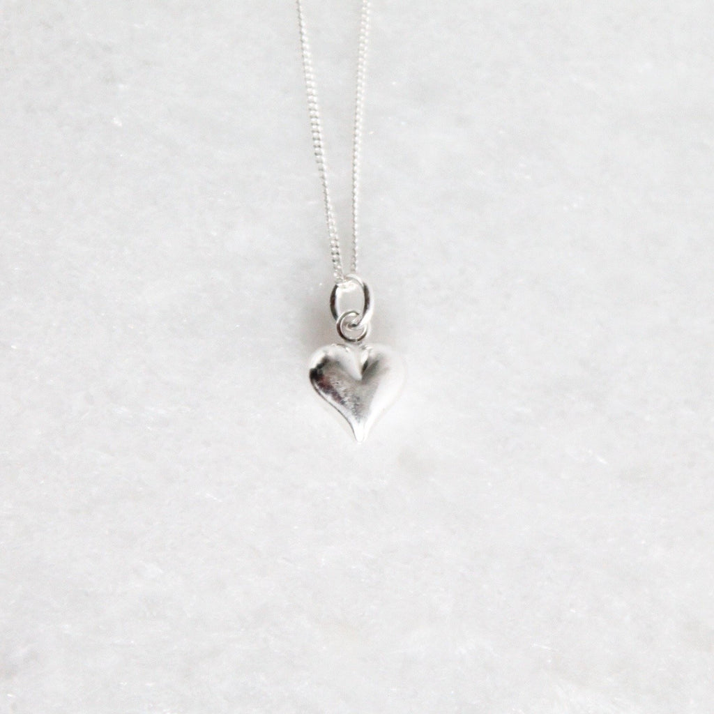 Love Solid Heart Necklace