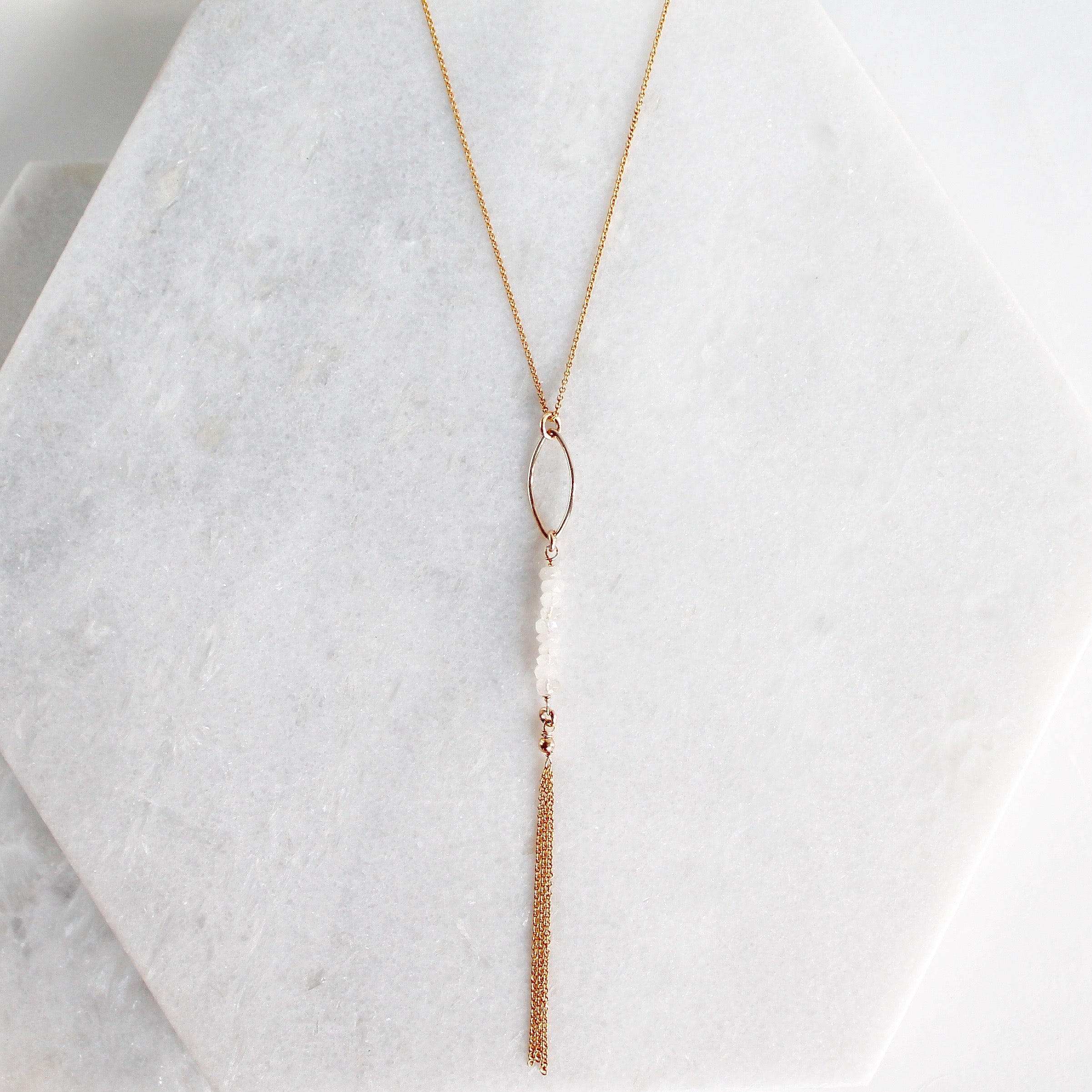 Aquafina Moonstone Lariat
