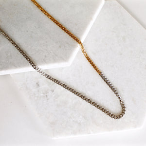Ombre Cuban Link Chain Necklace - Thin
