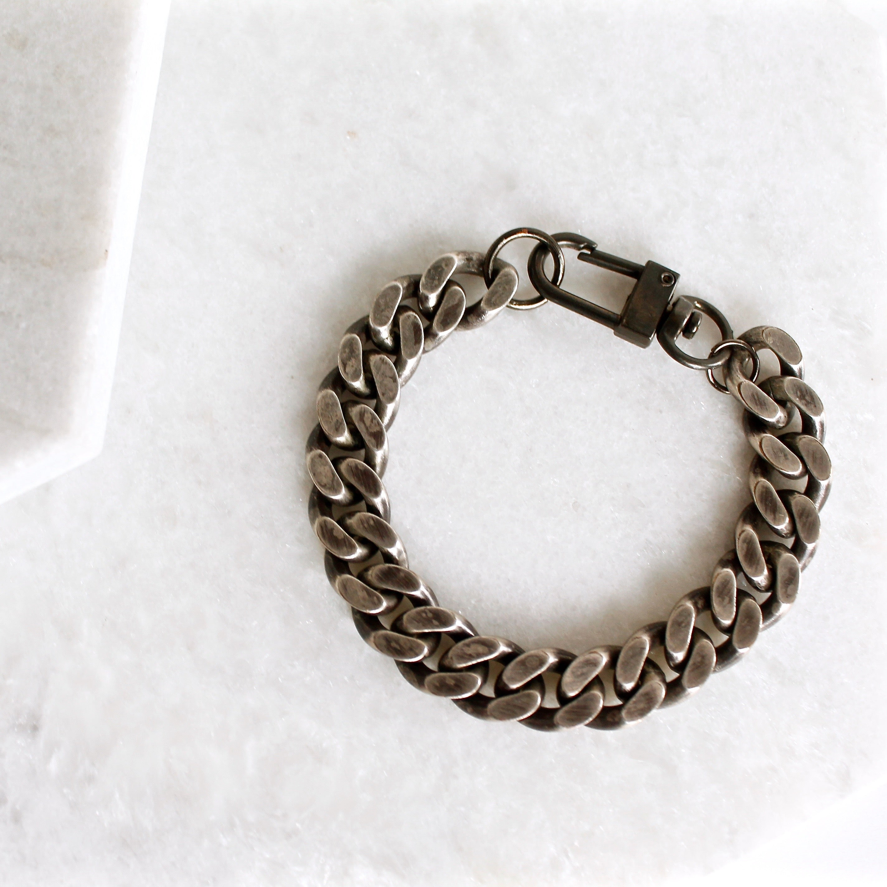 ebay bracelet silver links long thick itm with chain or gold