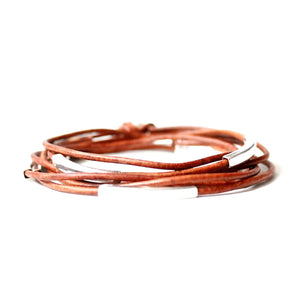 Corso Leather Wrap Bracelet